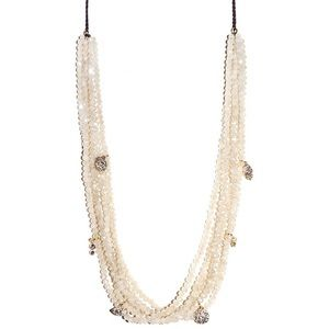 Marlyn Schiff Multi-Layer Beaded Charm Necklace